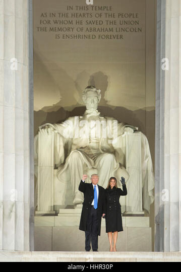 Arlington, USA. 19th Jan, 2017. President-elect of The United States Donald J. Trump and FIRST LADY-elect of The - Stock-Bilder