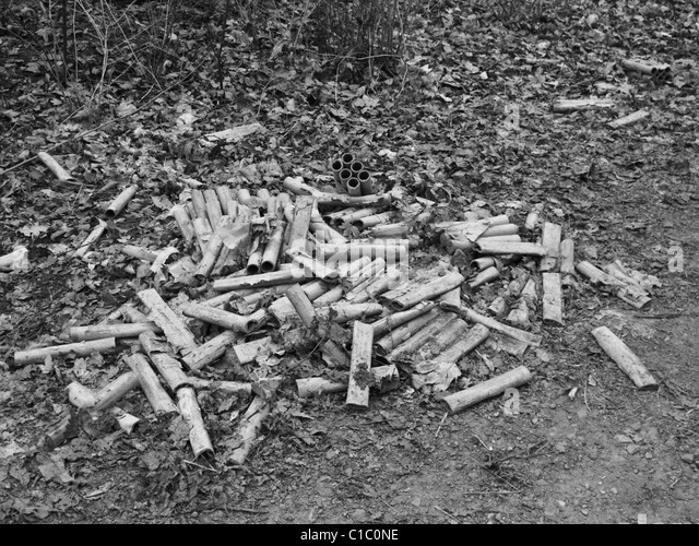Used fireworks. - Stock Image