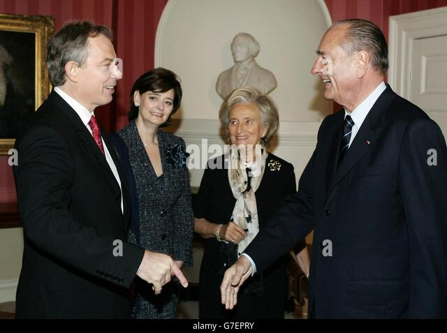 Chirac Visit - Stock Image
