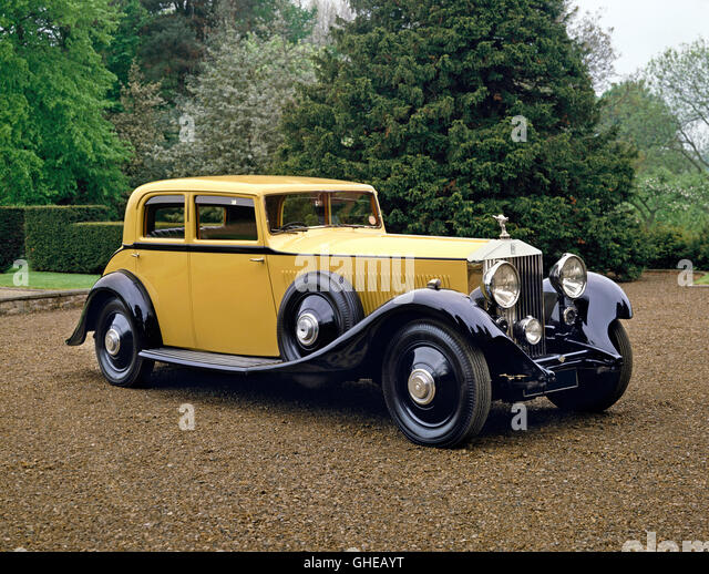 1933 Rolls Royce Phantom II Continental 4 door saloon 7 6 litre 6 cylinder inline engine Country of origin United - Stock Image
