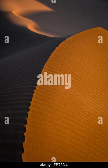 DUNES SAHARA DESERT ERG CHIGAGA MOROCCO AFRICA - Stock Image