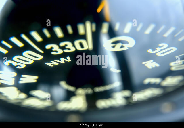 Close up of compass - Stock Image