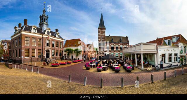 Edam Town Hall, Edam, Holland, Netherlands - Stock Image