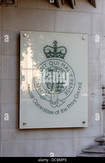 judicial committee of the privy council London England UK - Stock Image