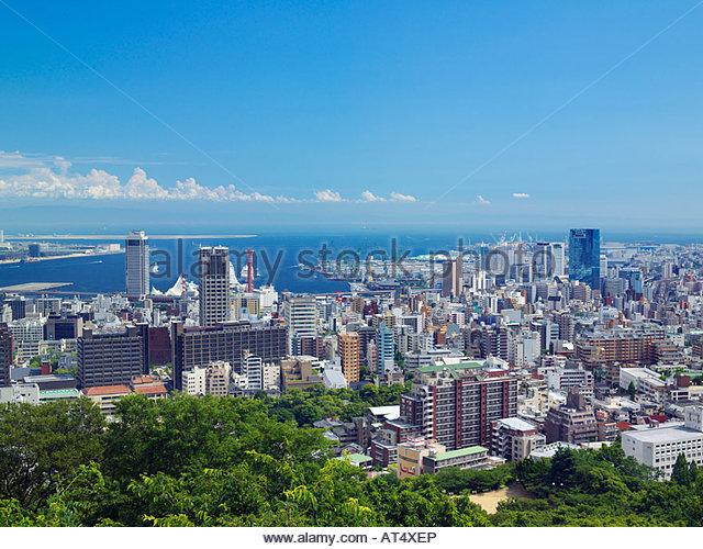 Kobe town, Kobe port, Suwayama Park, Kobe, Hyogo, Japan - Stock Image