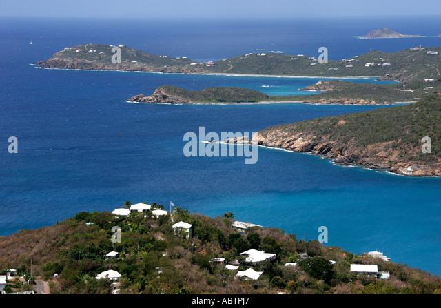 St. Thomas USVI Paradise Point Charlotte Amalie Caribbean Sea - Stock Image