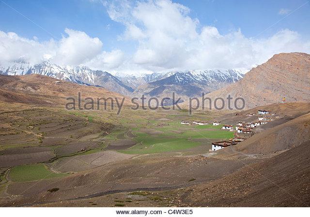 Langza, Spiti Valley, Himachal Pradesh, India - Stock-Bilder