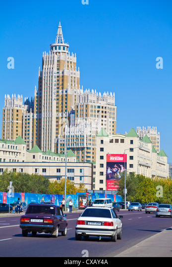 Triumph of Astana, a 480-apartment housing estate, Astana, Kazakhstan, Central Asia, Asia - Stock Image
