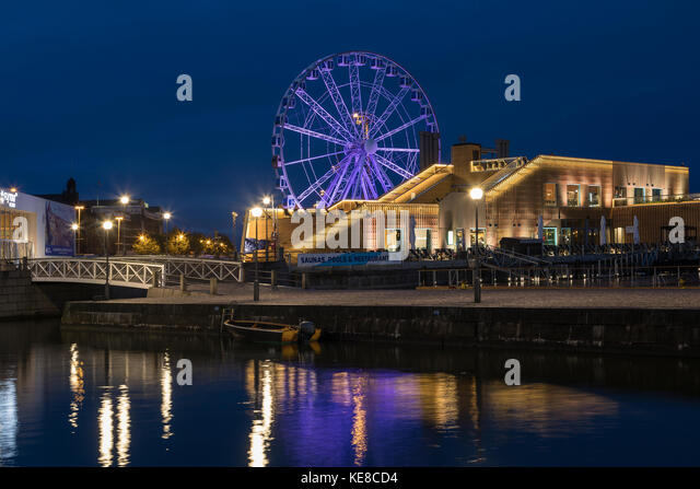 The Skywheel near Market Square on the waterfront in Helsinki, Finland. - Stock Image