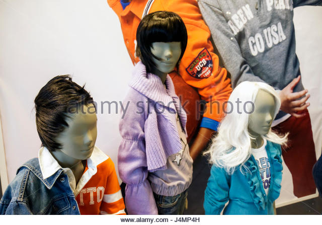 Miami Coral Gables Miami Florida Village of Merrick Park shopping mall business children's clothing apparel - Stock Image