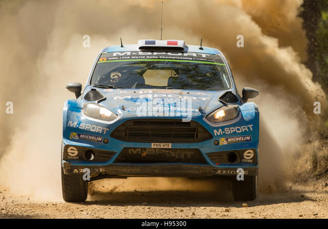 Coffs Harbour, Australia. 18th November, 2016. Special Stage 9. Newry. Eric Camilli (driver), M-Sport World Rally - Stock Image