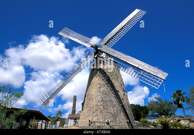 Barbados West Indies Caribbean Morgan Lewis Windmill - Stock Image