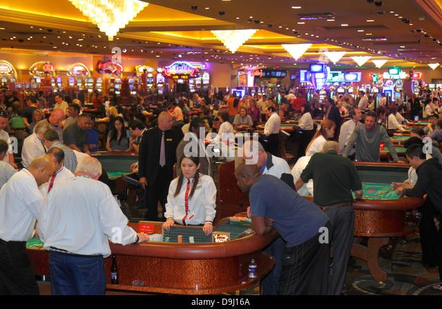 Nevada Las Vegas The Strip South Las Vegas Boulevard Bally's Las Vegas Hotel and Casino gambling gamblers players - Stock Image