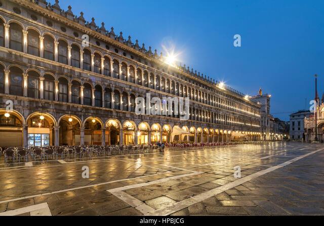Piazza San Marco,  Venedig, Venezia, Venice, Italia, Europe, - Stock Image