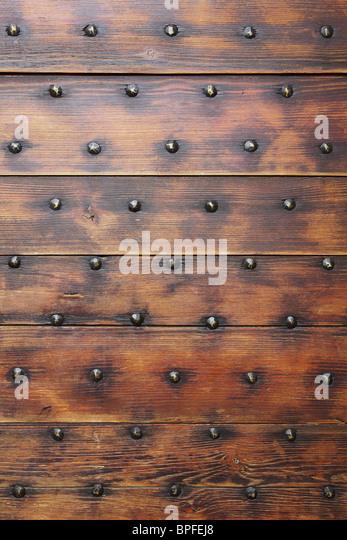 Wooden door - Stock Image