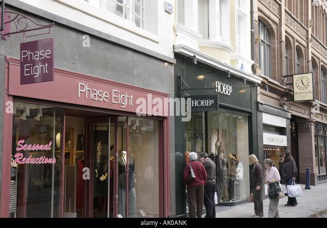 UK, England, Manchester, King Street, shopping, clothing, - Stock Image