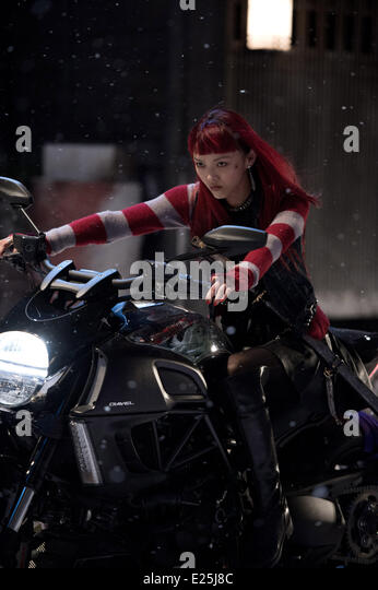 Rila Fukushima in film 'Wolverine : le combat de l'immortel' - (The Wolverine) - 2013  Featuring: Rila - Stock Image