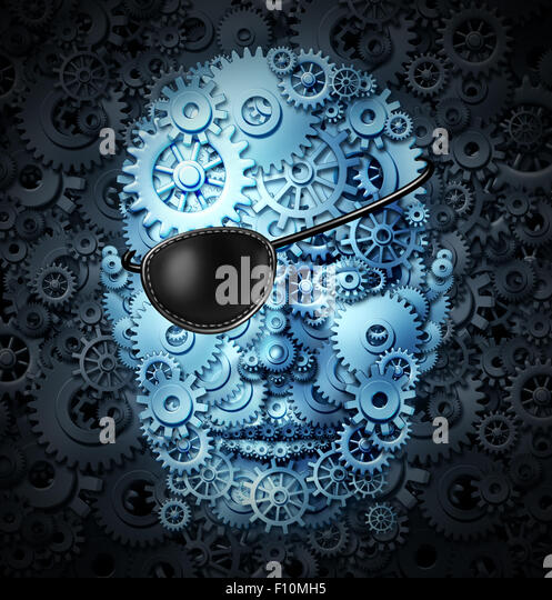 Robot revolution technology concept as a mechanical human as a bionic person with artificial intelligence or AI - Stock-Bilder