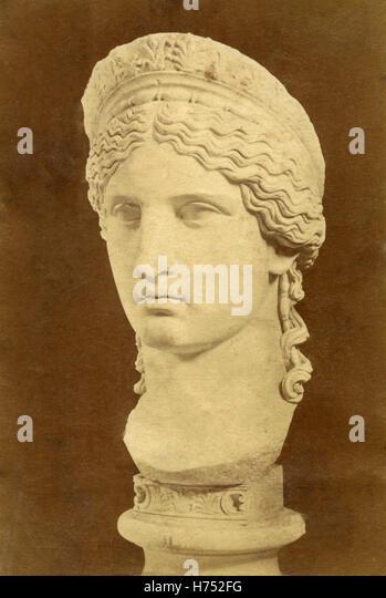 Head of Juno Ludovisi, sculpture, Rome, Italy - Stock Image