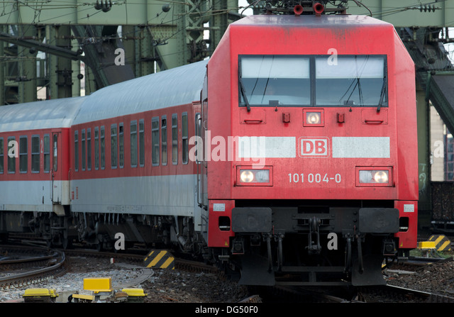 German Railways InterCity passenger train - Stock-Bilder