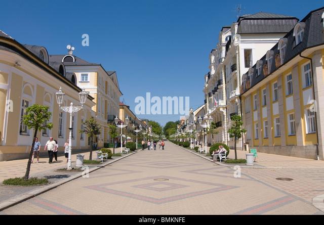 Pedestrian Area in inner city, Franzensbad,Czech Republic - Stock-Bilder