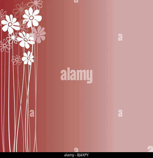 Creative design with flowers on a burgundy background - Stock-Bilder