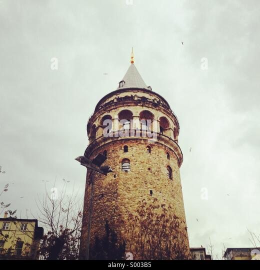 Galata tower in istanbul. - Stock Image