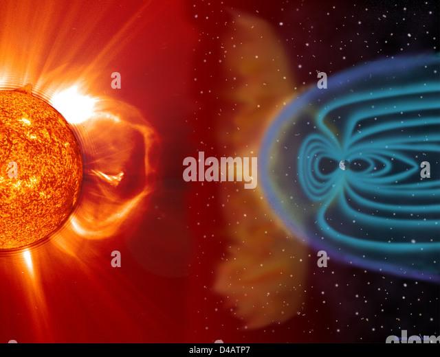 NASA Sun Earth - Stock Image