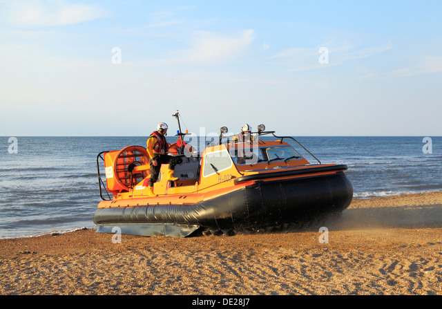 Inshore hovercraft lifeboat, RNLI, Hunstanton Norfolk 'Hunstanton Flyer' hovercrafts lifeboats - Stock Image