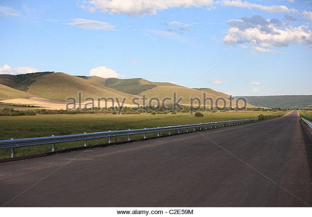 Road in Inner Mongolia - Stock Image