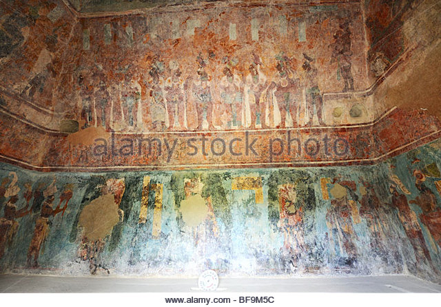 Bonampak mural stock photos bonampak mural stock images for Bonampak mural painting