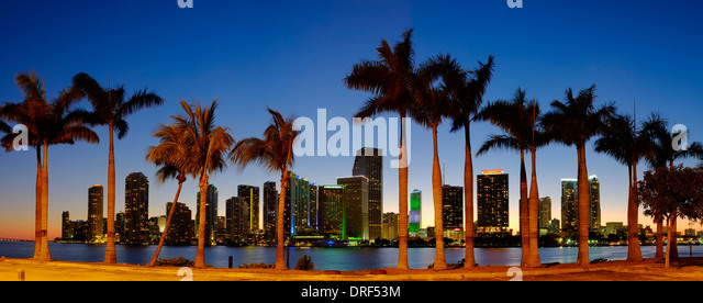 Miami Financial Skyline, Florida, USA - Stock Image