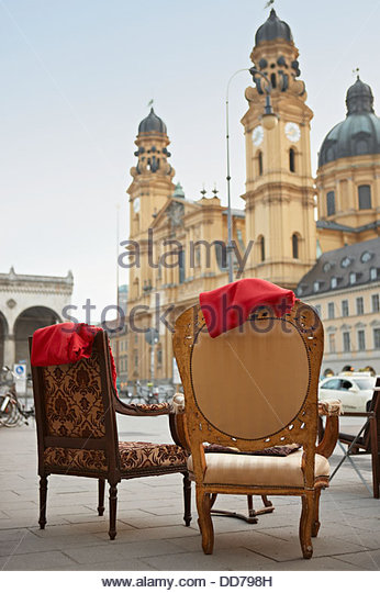 Germany, Bavaria, Munich, View of Theatine Church - Stock Image