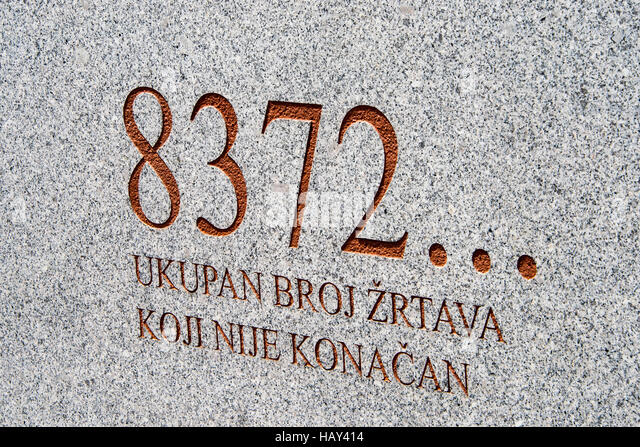Srebrenica, Potocari Memorial cemetery of 8372 victims - Stock Image