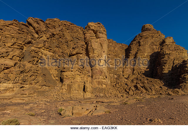View of rocky mountains - Jordan - Stock Image