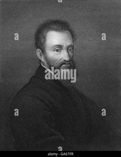 Michelangelo Buonarroti, 1475-1564, Italian painter, sculptor, architect and poet of the Italian High Renaissance, - Stock-Bilder