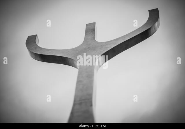 Reykjavik sculpture - Stock Image