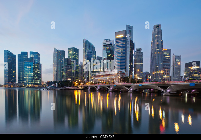 Singapore, City Skyline - Stock Image
