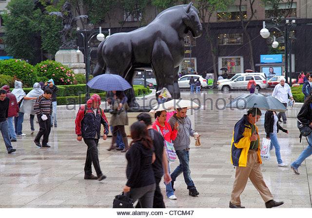 Mexico Mexico City DF D.F. Ciudad de México Federal District Distrito Federal Centro Historico outside Palacio - Stock Image