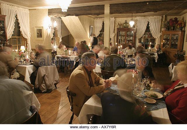 West Virginia Lewisburg General Lewis Inn restaurant dining room - Stock Image