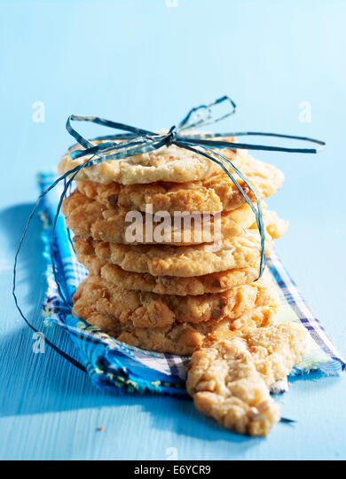 Coconut cookies - Stock Image