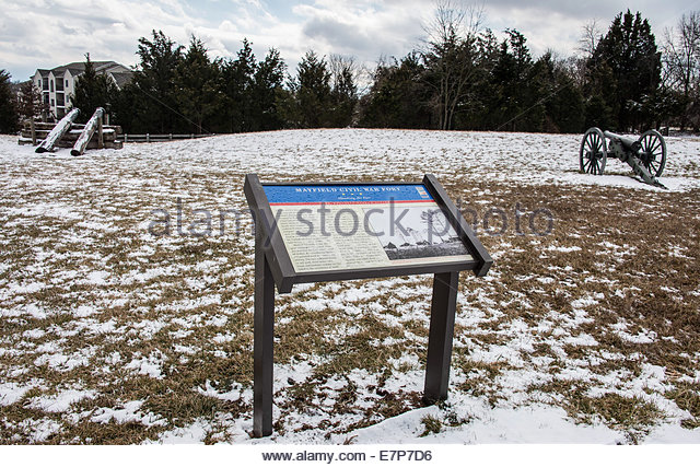 Battlefield of civil war fort Manassas Virginia. USA ©William Stevens - Stock Image