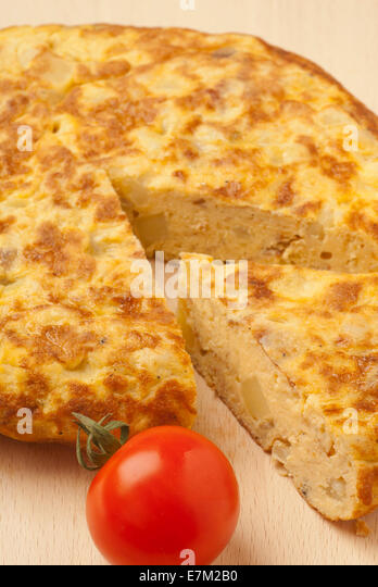 Tortilla Española, Spanish Omelette, is a typical Spanish dish - Stock Image