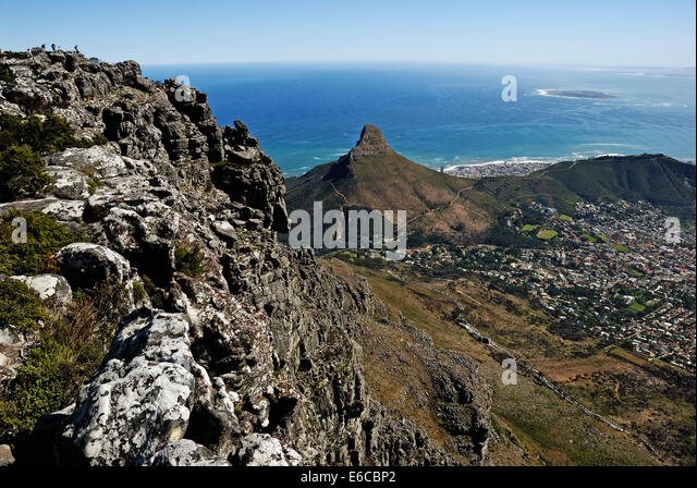Sea Point from Table Mountain, Cape Town, Western Cape Province, South Africa - Stock Image