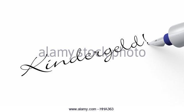 Stift Konzept - Kindergeld! - Stock-Bilder