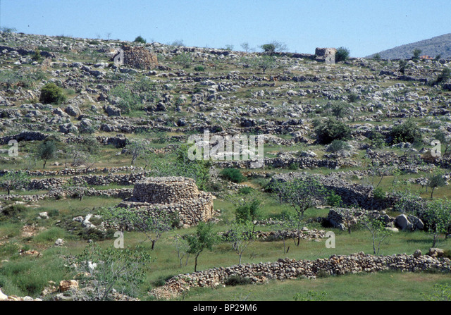 3132. SAMARIA - THE HILL-COUNTRY NORTH OF JERUSALEM, ONCE THE TERRITORY OF THE TRIBE OF BENJAMIN - Stock Image