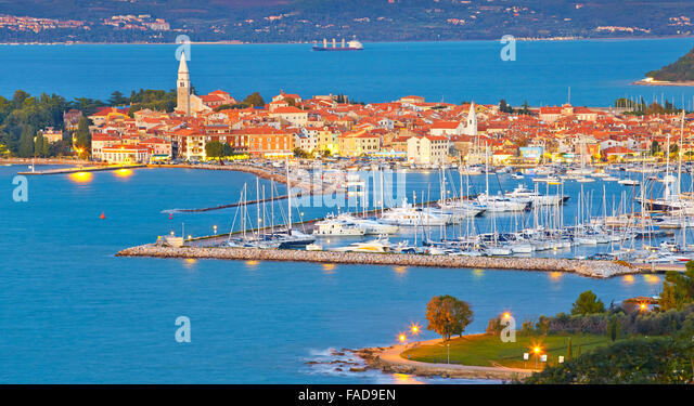 Harbor at Izola, Slovenia - Stock-Bilder