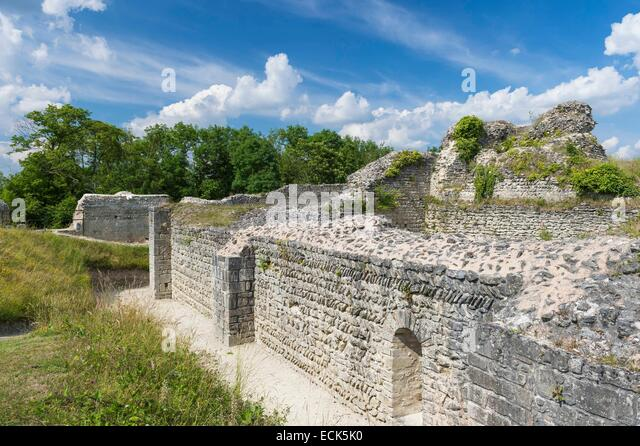 France, Eure, Ivry la Bataille, late 10th century military fortress - Stock-Bilder