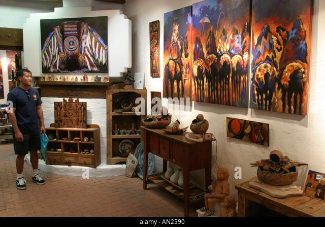 New Mexico Albuquerque Old Town Studio Estevane New Mexico - Stock Image