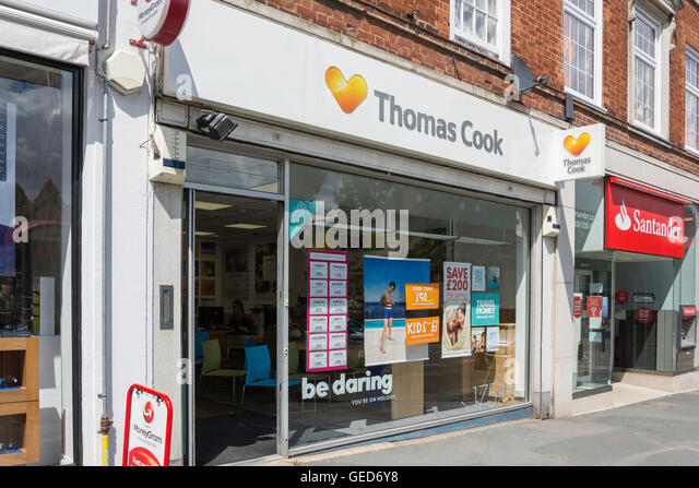 Thomas Cook travel agent, Banstead High Street, Banstead, Surrey, England, United Kingdom - Stock-Bilder